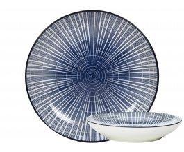 GUSTA Sushi talíř 21,5 cm proužky