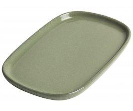GUSTA Servírovací talířek kamenina 16 x 11 cm Green
