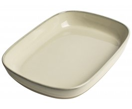 GUSTA Servírovací talíř 25,5x18,7x4,4cm Ivory