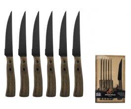 GUSTA BBQ steakové nože set 6 kusů v krabici ocel/dřevo