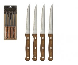 GUSTA Herman steakové nože set 4 kusů ocel/dřevo