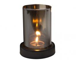 GUSTA Svícen na čajovou svíčku kouřové sklo