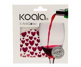 KOALA Nálevka na víno set 4 ks srdce