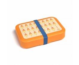 DBP Box na svačinu s gumičkou oranžový Nanuk