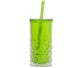 ALADDIN Plastový pohár s brčkem 470ml zelený