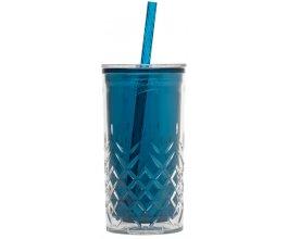 ALADDIN Plastový pohár s brčkem 470ml petrolejový