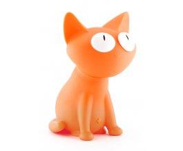 Kasička kočka Silly oranžová