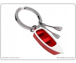 MTM Klíčenka člun s vesly červený