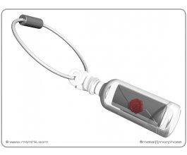 MTM Přívěsek na klíče Vzkaz v láhvi