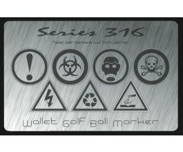 Karta do peněženky – golf markers