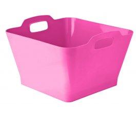 Koš na prádlo 17 l růžový