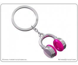 MTM Klíčenka sluchátka růžová