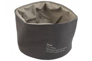 GUSTA Košík textilní na pečivo 20x14cm šedý