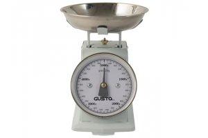 GUSTA Kuchyňská váha mechanická 5kg světle modrá retro