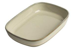 GUSTA Servírovací miska kamenina 16.3x12.3x3.5cm Ivory