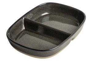 GUSTA Servírovací miska dělená 16.3x12.3x3.5cm Anthracite