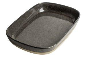 GUSTA Servírovací talíř 25,5x18,7x4,4cm Anthracite