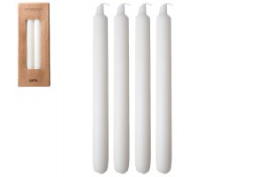 GUSTA Set svíček k večeři 4ks barva slonová kost