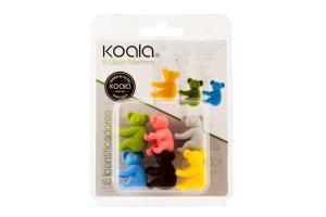 KOALA Rozlišovač na skleničky set 6 kusů koala