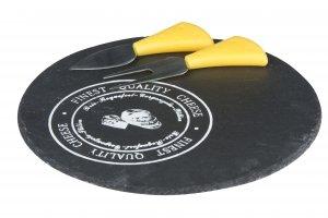 ALPINA břidlicové prkénko na sýr s náčiním 23cm