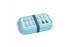 DBP Box na svačinu s gumičkou aqua Lama