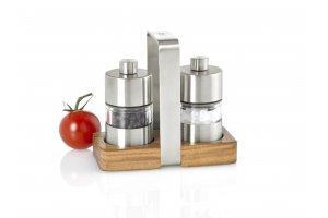 AdHoc Set mlýnků na sůl a pepř Menage mini se stojánkem
