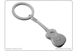 MTM klíčenka kytara mat