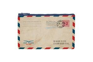 LEGAMI Kosmetická taštička se zipem Air Mail 21,5x13,5 cm