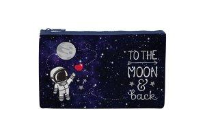 LEGAMI Kosmetická taštička se zipem Měsíc 21,5x13,5 cm