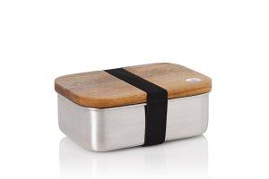AdHoc Svačinová krabička COTTO dřevo a nerezová ocel