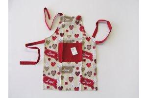 Zástěra dětská Srdce