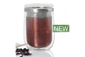 AdHoc Hrnek na čaj s infuzérem FUSION GLASS 400ml