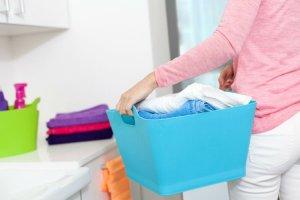 Koš na prádlo 17 l  modrý
