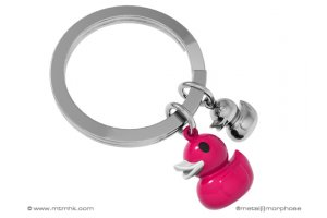 MTM Klíčenka kačenka & káčátko růžová