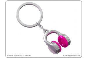 MTM Klíčenka - sluchátka, růžová